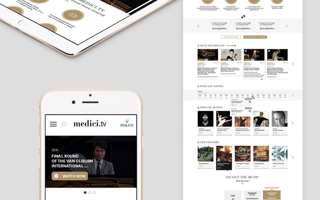 Medici TV | Interface Design